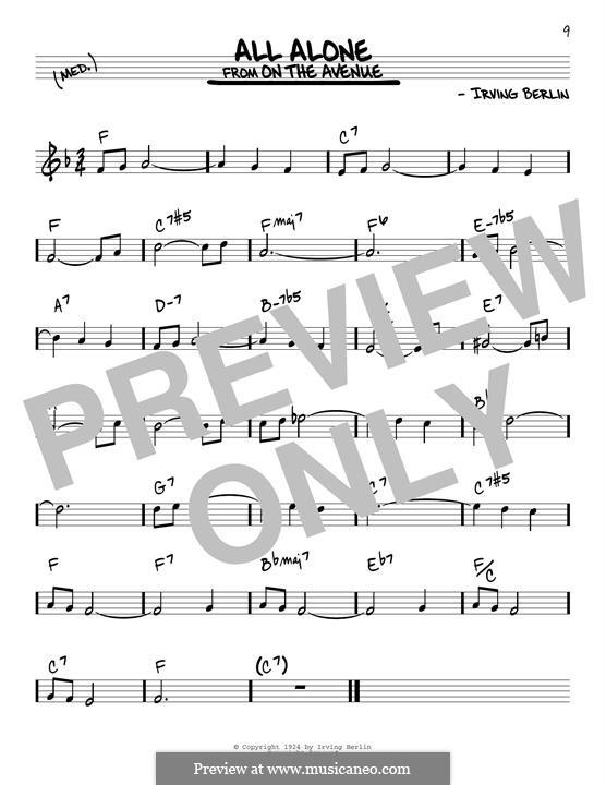 All Alone: Для гитары by Ирвинг Берлин