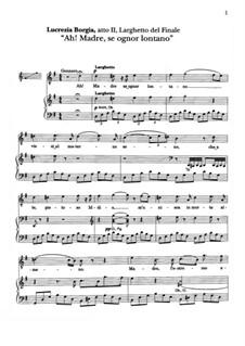 Лукреция Борджиа: Ah! Madre, se ognor lontano. Aria Gennaro by Гаэтано Доницетти