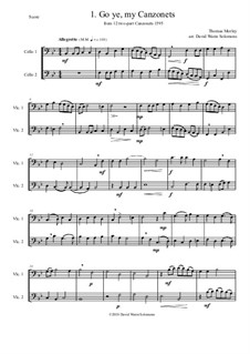12 easy Canzonets: For cello duo by Томас Морли
