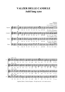 Auld Lang Syne: For SATB choir by folklore