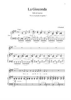Джоконда: Ho il cor gonfio di lagrima. Aria di Laura by Амилькаре Понкьелли