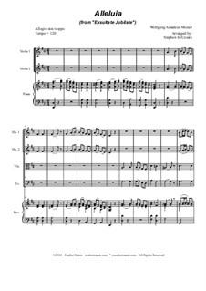 Exsultate, jubilate, K.165: Alleluia, for string quartet by Вольфганг Амадей Моцарт