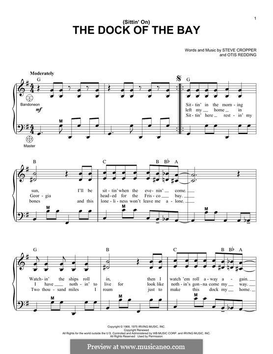 (Sittin' On) The Dock of the Bay: Для аккордеона by Otis Redding, Steve Cropper