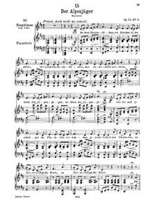 Альпийский охотник, D.524 Op.13 No.3: Для низкого голоса и фортепиано by Франц Шуберт