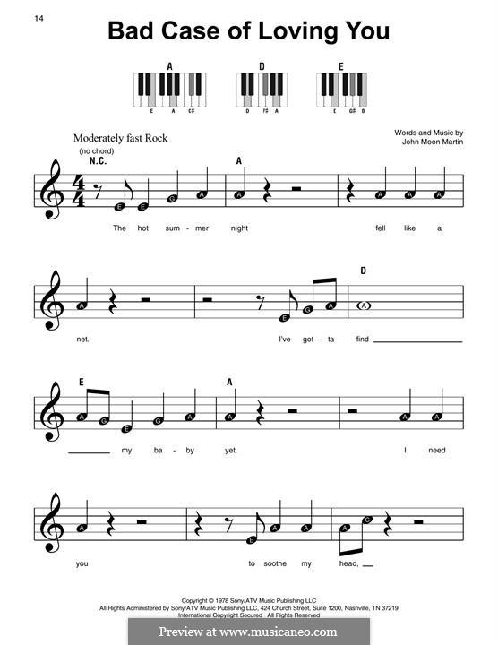 Bad Case of Loving You (Robert Palmer): Для фортепиано by Moon Martin