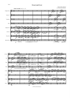 Sweet and Low (Stanford's setting): For saxophone quartet and brass quartet by Чарлз Виллиерс Стэнфорд
