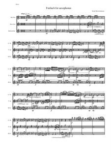 Freilach (Fraylach): For alto, tenor and baritone saxophones by Дэвид Соломонс