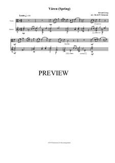 Две элегические мелодии, Op.34: No.2 Våren (Spring), for viola and guitar by Эдвард Григ