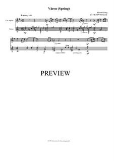 Две элегические мелодии, Op.34: No.2 Våren (Spring), for cor anglais and guitar by Эдвард Григ