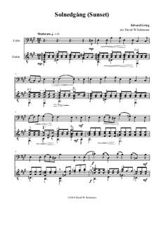 Романсы и баллады, Op.9: No.3 Solnedgång (Sunset), for cello and guitar by Эдвард Григ