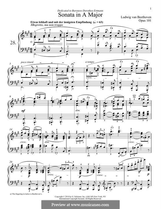 Соната для фортепиано No.28, Op.101: Для одного исполнителя by Людвиг ван Бетховен