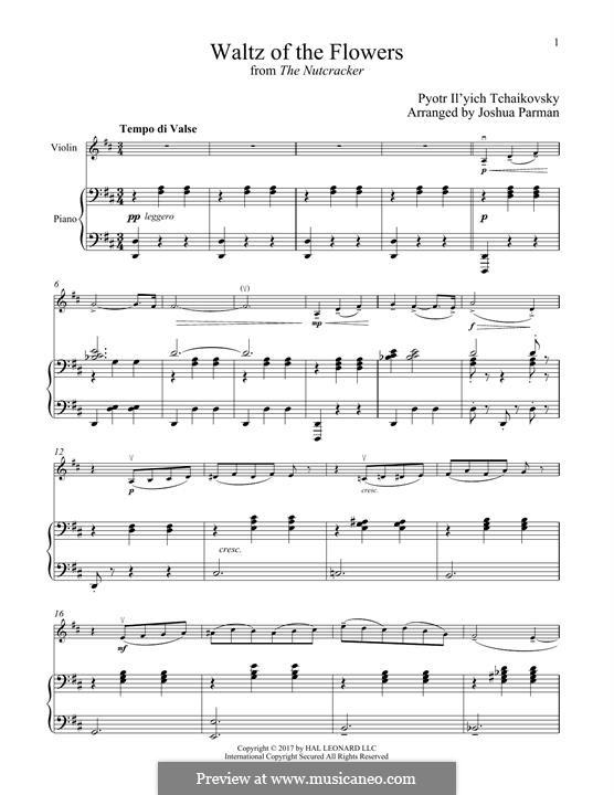 No.8 Вальс цветов: Для скрипки и фортепиано by Петр Чайковский