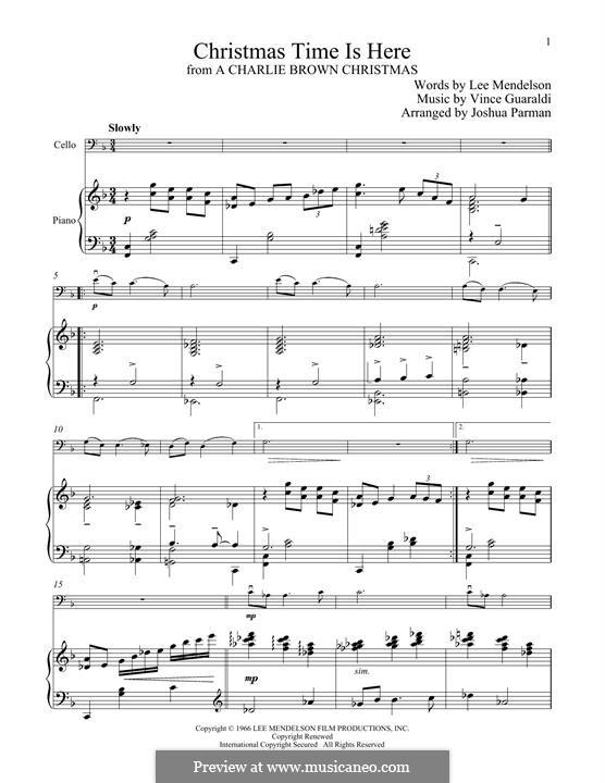 Christmas Time is Here: Для виолончели и фортепиано by Vince Guaraldi