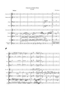 Концерт для валторны с оркестром No.3 ми-бемоль мажор, K.447: Партитура by Вольфганг Амадей Моцарт