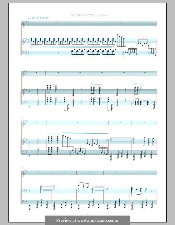 Bachelorette (Bjork): Для голоса и фортепиано by Bjork Gudmundsdottir, Sigurjon Sigurdsson