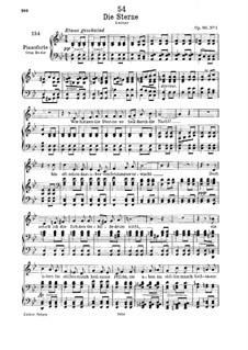 Die Sterne (The Stars), D.939 Op.96 No.1: Для низкого голоса и фортепиано by Франц Шуберт