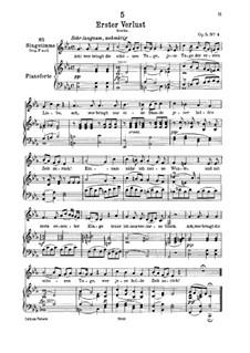 Первая утрата, D.226 Op.5 No.4: Для низкого голоса и фортепиано by Франц Шуберт