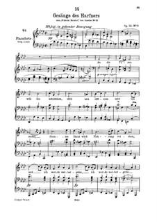 No.3 An die Türen will ich schleichen: F minor, for low voice and piano by Франц Шуберт