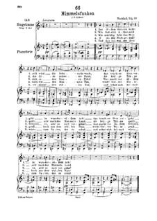 Himmelsfunken (Intimations of Heaven), D.651: Для низкого голоса и фортепиано by Франц Шуберт