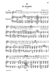 Im Abendrot (In the Glow of Evening), D.799: Для низкого голоса и фортепиано by Франц Шуберт