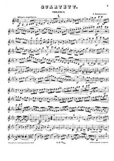 Струнный квартет No.1 до минор: Скрипка I by Георг Вильгельм Раухенекер