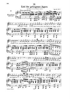 Lied des gefangenen Jägers (Song of the Imprisoned Huntsman), D.843 Op.52 No.7: Для низкого голоса и фортепиано by Франц Шуберт