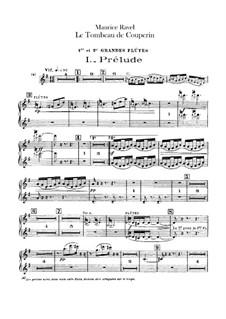 Гробница Куперена для оркестра, M.68a: Партия флейт by Морис Равель