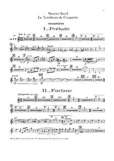 Гробница Куперена для оркестра, M.68a: Партия трубы by Морис Равель