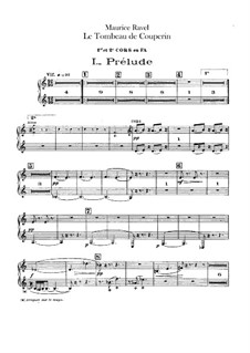 Гробница Куперена для оркестра, M.68a: Партия валторн by Морис Равель