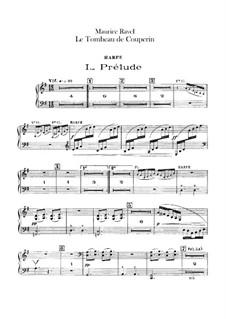 Гробница Куперена для оркестра, M.68a: Партия арфы by Морис Равель