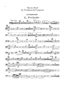 Гробница Куперена для оркестра, M.68a: Партия контрабаса by Морис Равель
