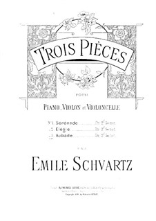 Aubade for Violin, Cello and Piano: Партитура by Эмиль Шварц