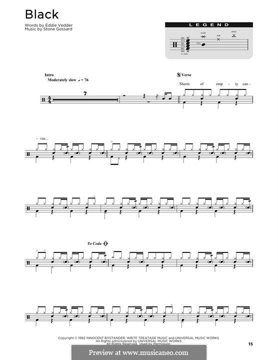 Black (Pearl Jam): Drum set by Stone Gossard
