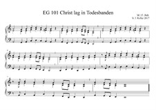 Christ lag in Todesbanden: D-moll by Unknown (works before 1850)