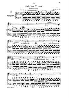 Ночь и грёзы, D.827 Op.43 No.2: Для низкого голоса и фортепиано by Франц Шуберт