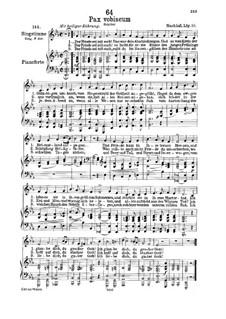 Pax Vobiscum (Peace Be with You), D.551: Для низкого голоса и фортепиано by Франц Шуберт