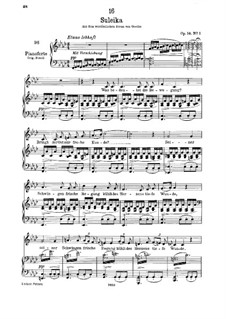 Зулейка I, D.720 Op.14 No.1: Для низкого голоса и фортепиано by Франц Шуберт