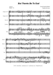 No.51 Благодарение Богу: Для квартета медных духовых by Георг Фридрих Гендель
