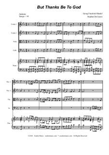 No.51 Благодарение Богу: Для струнного квартета by Георг Фридрих Гендель