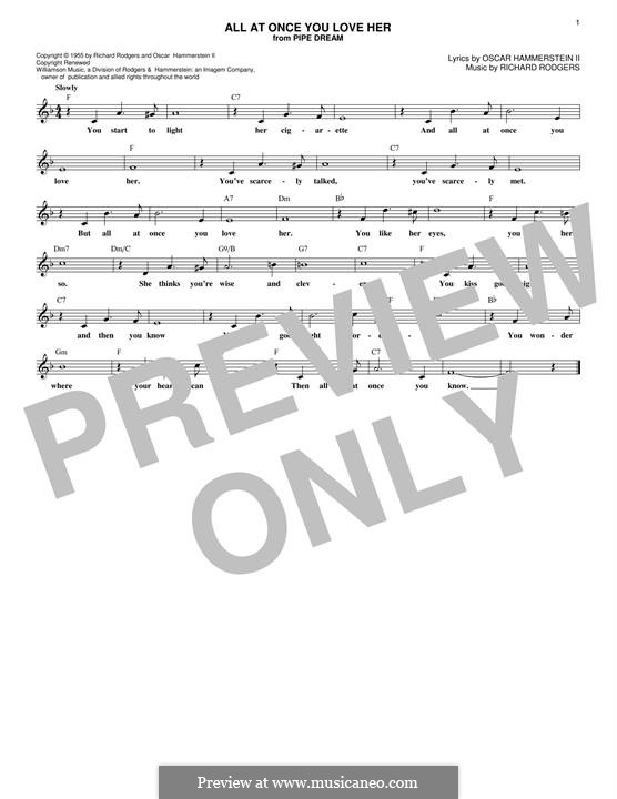 All at Once You Love Her: Мелодия by Richard Rodgers