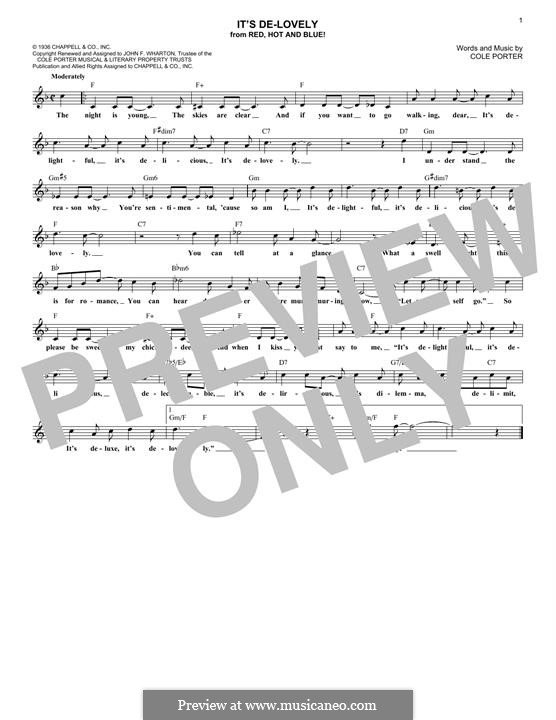 It's De-Lovely: Мелодия by Кол Портер
