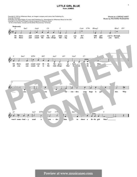Little Girl Blue: Мелодия by Richard Rodgers