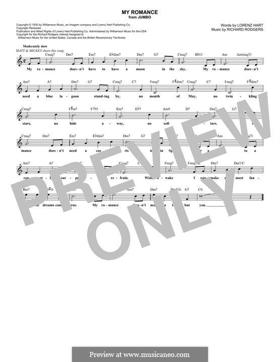 My Romance: Мелодия by Richard Rodgers