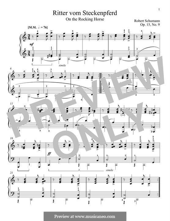 No.9 Верхом на палочке: Для фортепиано by Роберт Шуман