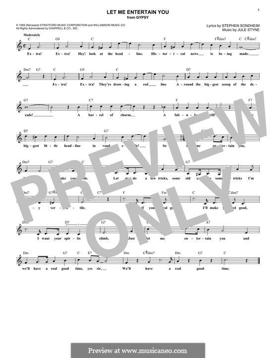 Let Me Entertain You: Мелодия by Jule Styne