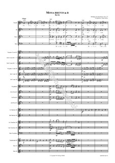 Месса No.14 си-бемоль мажор (Missa brevis No.9), K.275: For choir and brass band by Вольфганг Амадей Моцарт