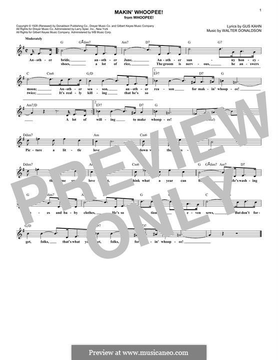 Makin' Whoopee!: Мелодия by Уолтер Дональдсон