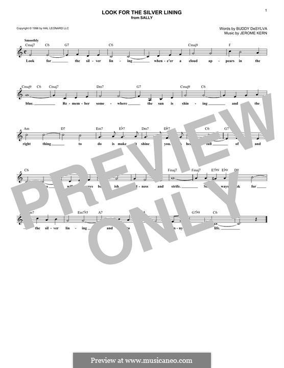 Look for the Silver Lining: Мелодия by Джером Керн