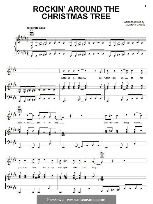 Rockin' Around the Christmas Tree: Для голоса и фортепиано (или гитары) by Johnny Marks