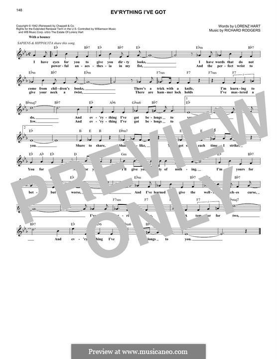 Ev'rything I've Got: Мелодия by Richard Rodgers